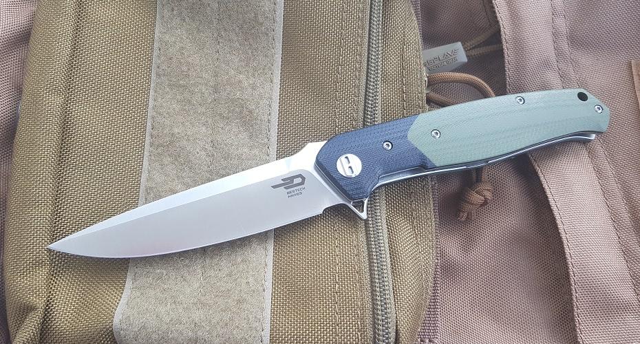 Нож складной BESTECH knives Swordfish - green D2