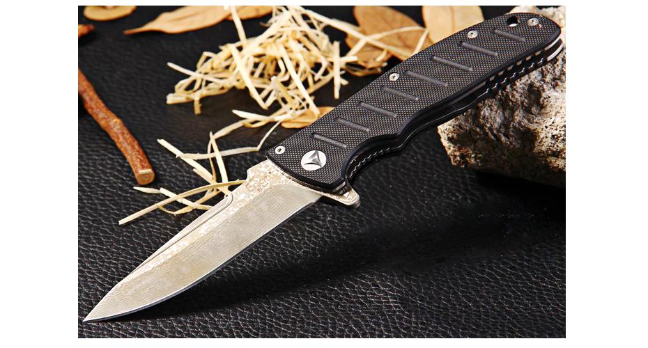 Нож складной ENLAN EL01D Damascus Steel