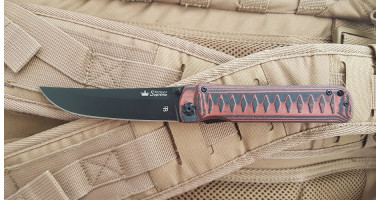 Нож складной KIZLYAR SUPREME Whisper D2 BT Red D2