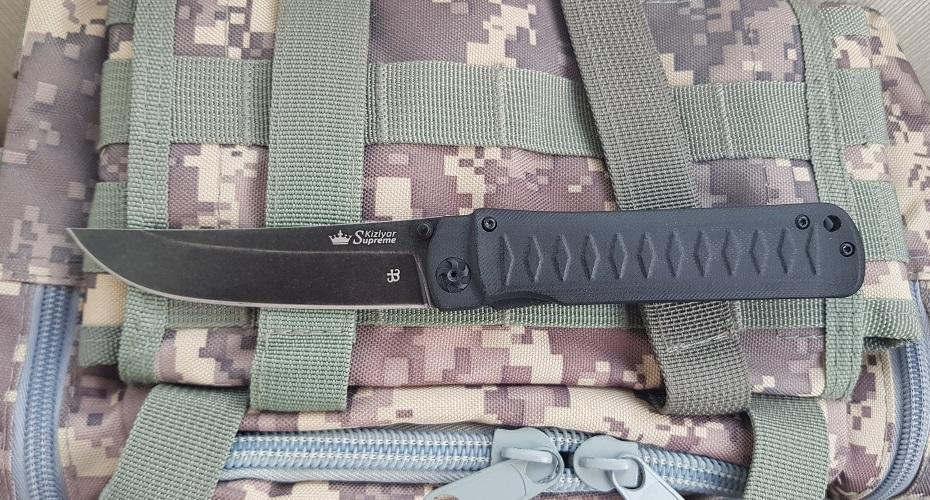 Нож складной KIZLYAR SUPREME Whisper D2 SW Black D2