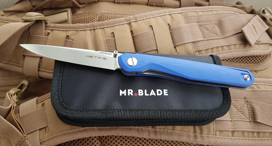 Нож складной Mr.Blade Astris (Сергей Шнуров) сталь D2 BLUE handle G10 D2