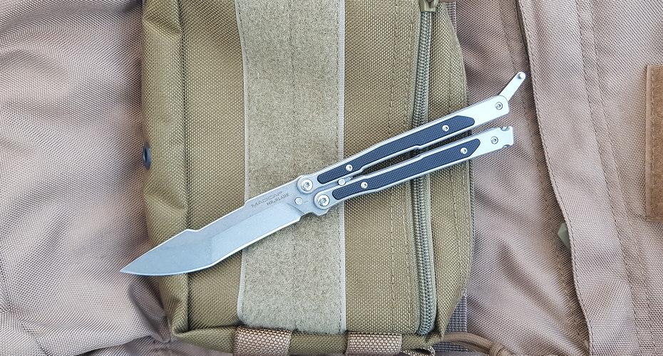 Нож бабочка Mr. Blade Madcap stonewash