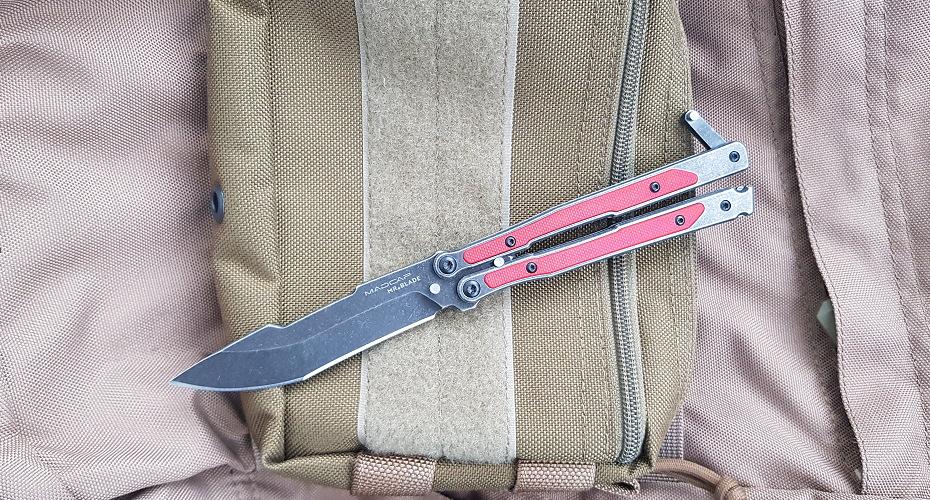 Нож бабочка Mr. Blade Madcap Black Red