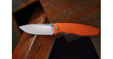 Нож складной Mr.Blade Zipper bright orange  D2