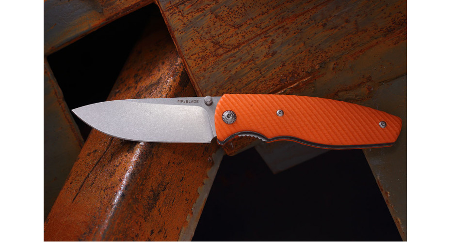 Нож складной Mr.Blade Zipper bright orange  D2