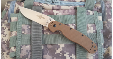 Нож складной ONTARIO RAT 1 - D2 - Brown