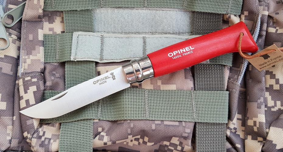 Нож складной OPINEL 8 Trekking  красный