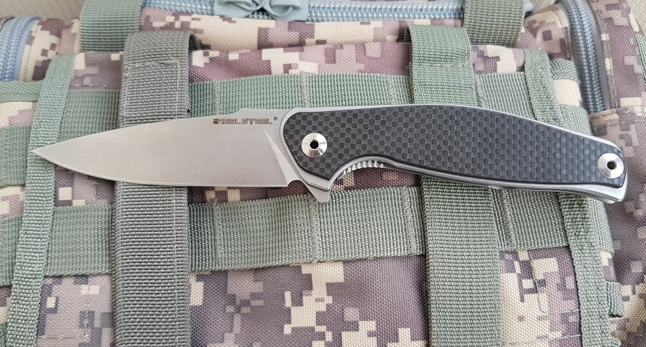 Нож складной REALSTEEL E771 SEA EAGLE Carbon 14C28N Sandvik