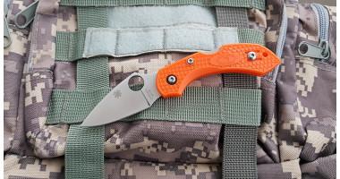 Нож складной клон H1 orange