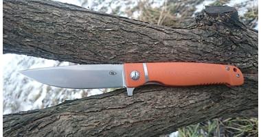 Нож складной Reptilian Карат оранж D2
