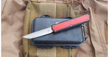Нож Reptilian выкидной фронтального выброса  Sandvik 12C27