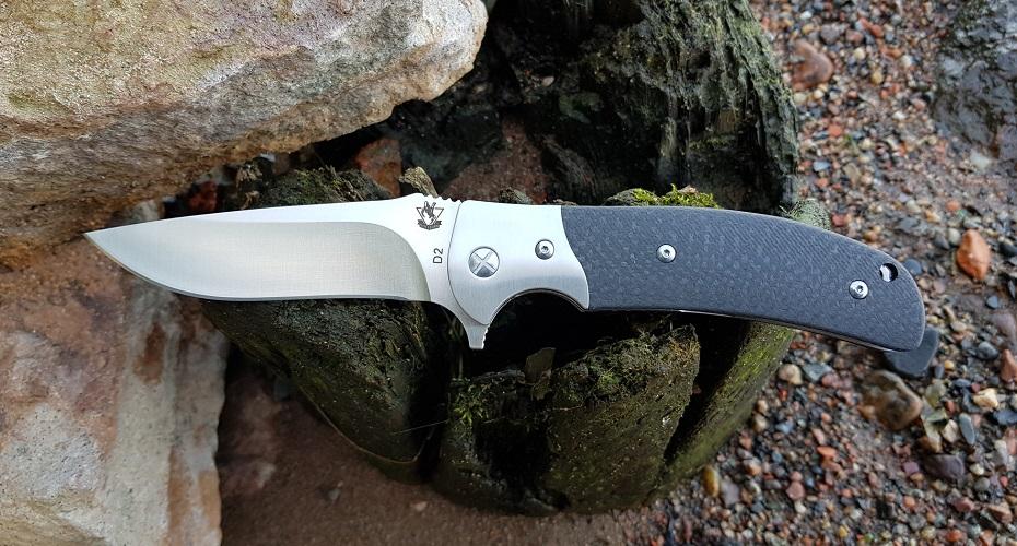 Нож складной STEELCLAW Резервист карбон D2