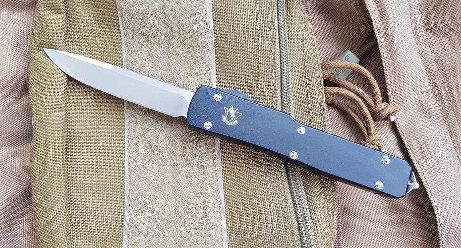 Нож STEELCLAW MIC02B выкидной фронтального выброса D2
