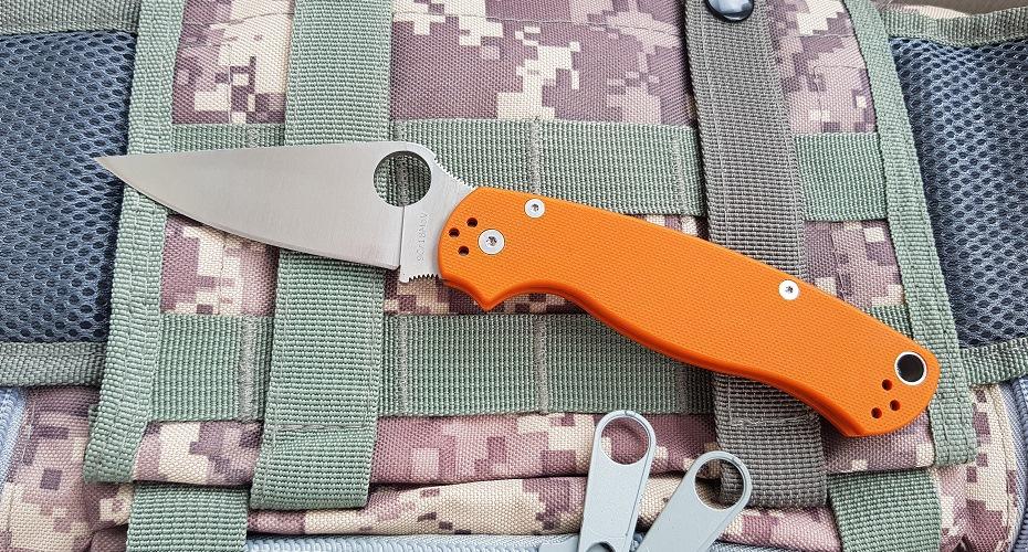 Нож складной  STEELCLAW Боец 2 оранж 9Cr18MoV
